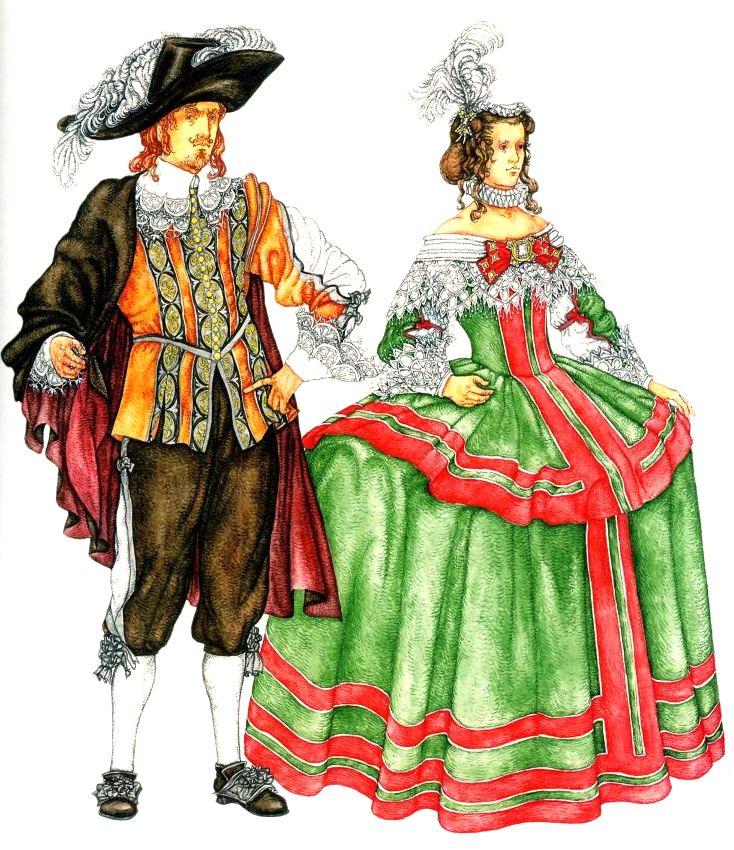 Одежда эпохи во франции
