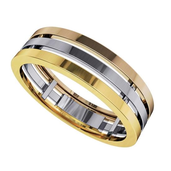 Хотя комбинированные кольца за счет своей оригинальности выглядят довольно  самодостаточно и без вставок, инкрустация драгоценными или полудрагоценными  ... 16efcb1cb95
