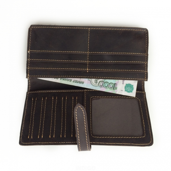 Сиреневый кошелек из гладкой кожи