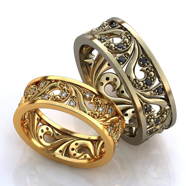 f43e95ff4a55 Обручальные кольца с камнями (50 фото)  можно ли женское свадебное кольцо с  черными камнями по кругу