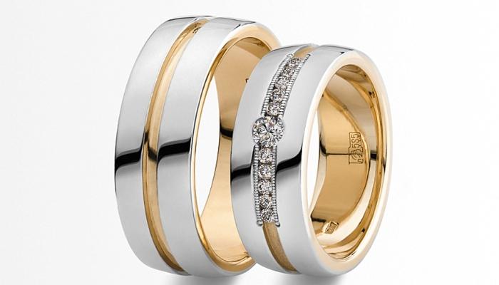 Широкие обручальные кольца (57 фото)  гладкие парные модели, оригинальные  женские свадебные кольца 9f3cfb7e49e