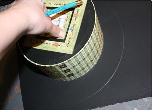 Цилиндр своими руками из картона и ткани 87