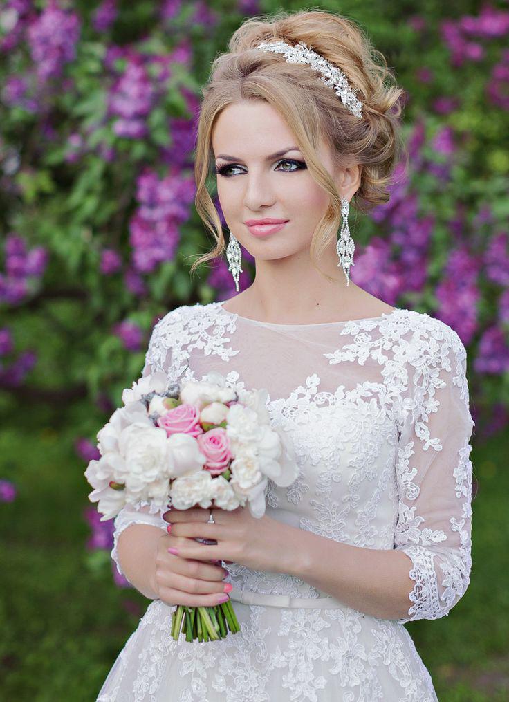 свадебные прически собранные волосы фото