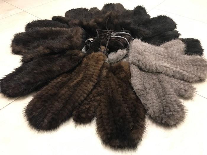 варежки из норки 65 фото длинные норковые модели из меха вязаной