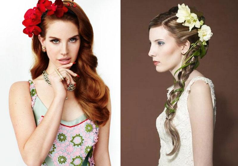 Цветы для волос