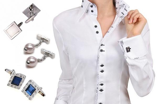 175e4a2e39e Женские запонки (38 фото)  модели с кристаллами сваровски золотые и ...