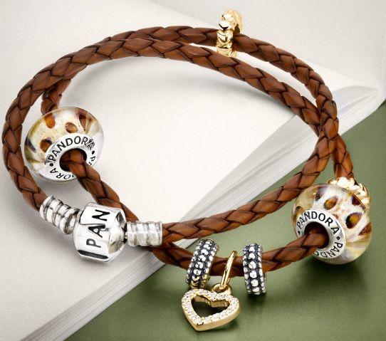 браслеты пандора кожаные фото