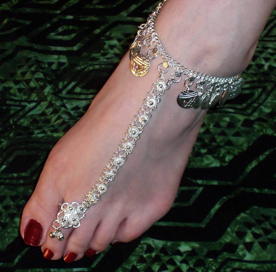Индийские ножные браслеты своими руками 52