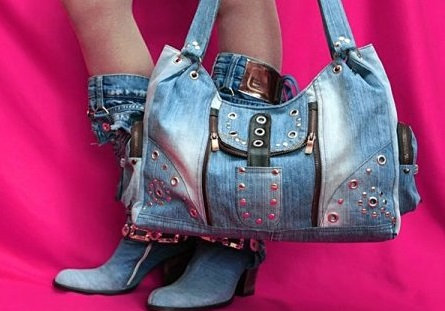 dzhinsovye-sumki-3 Интересные варианты пошива сумок из старых джинс