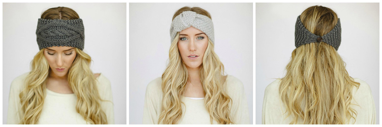 Вязаные повязки на голову спицами фото схема