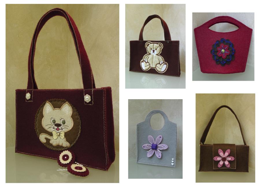 ff0770e82de0 Сегодня фетр представлен в самых разнообразных цветовых гаммах. Девушки  могут купить или сделать своими руками вещь любого оттенка. Необычные  сумочки ...