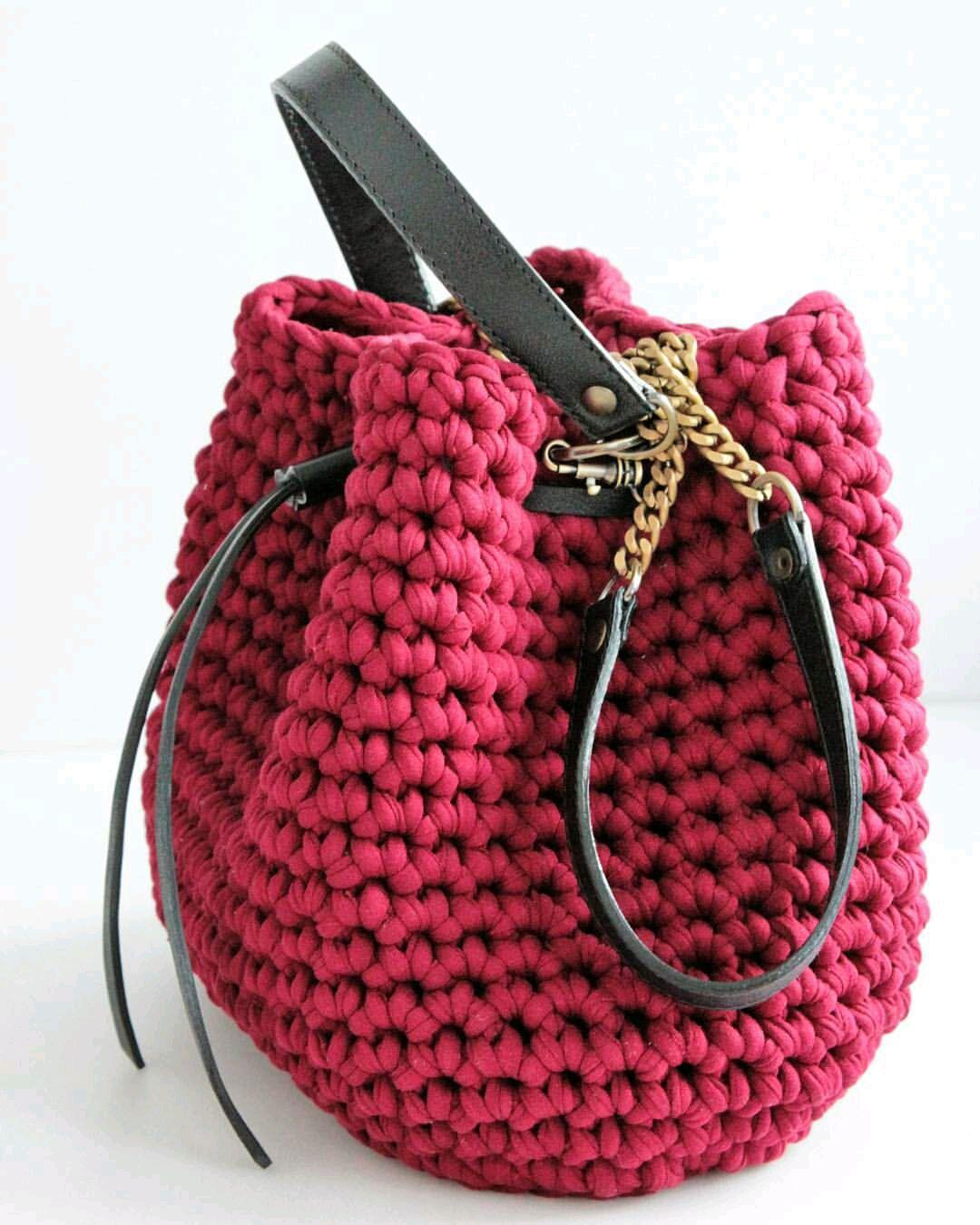 сумка тиффани из трикотажной пряжи мк