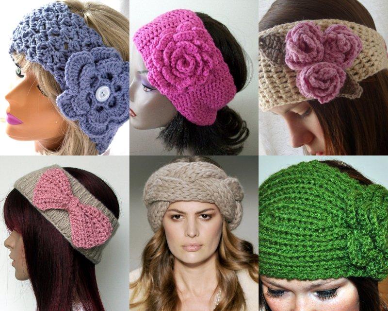 Вязаная повязка на голову (65 фото): летняя и зимняя для ...
