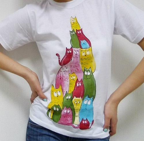 Принты на футболку своими руками красками 39