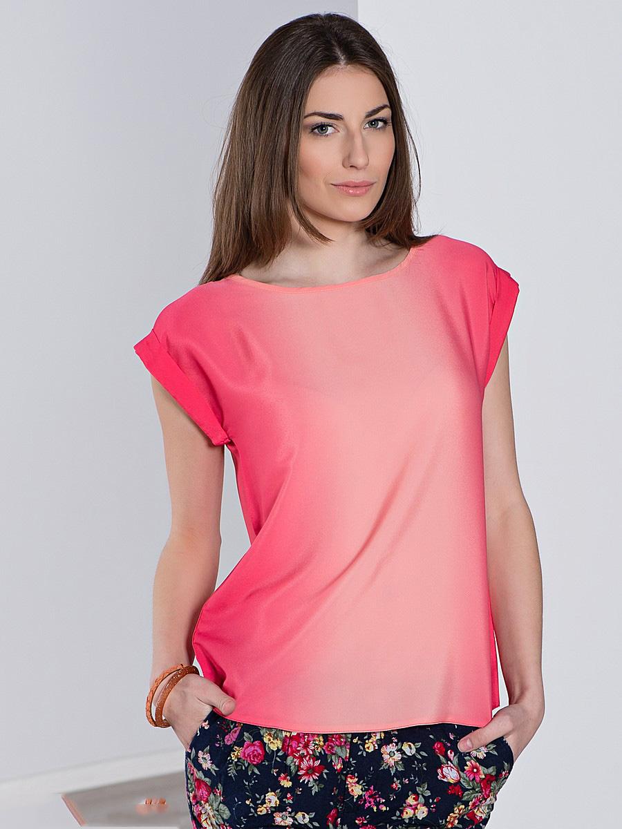 Выкройка блуза со спущенным на одно плечо