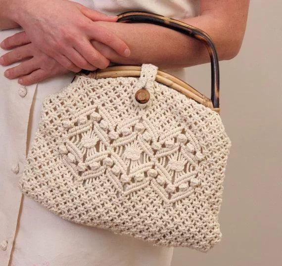 Плетеные сумки макраме
