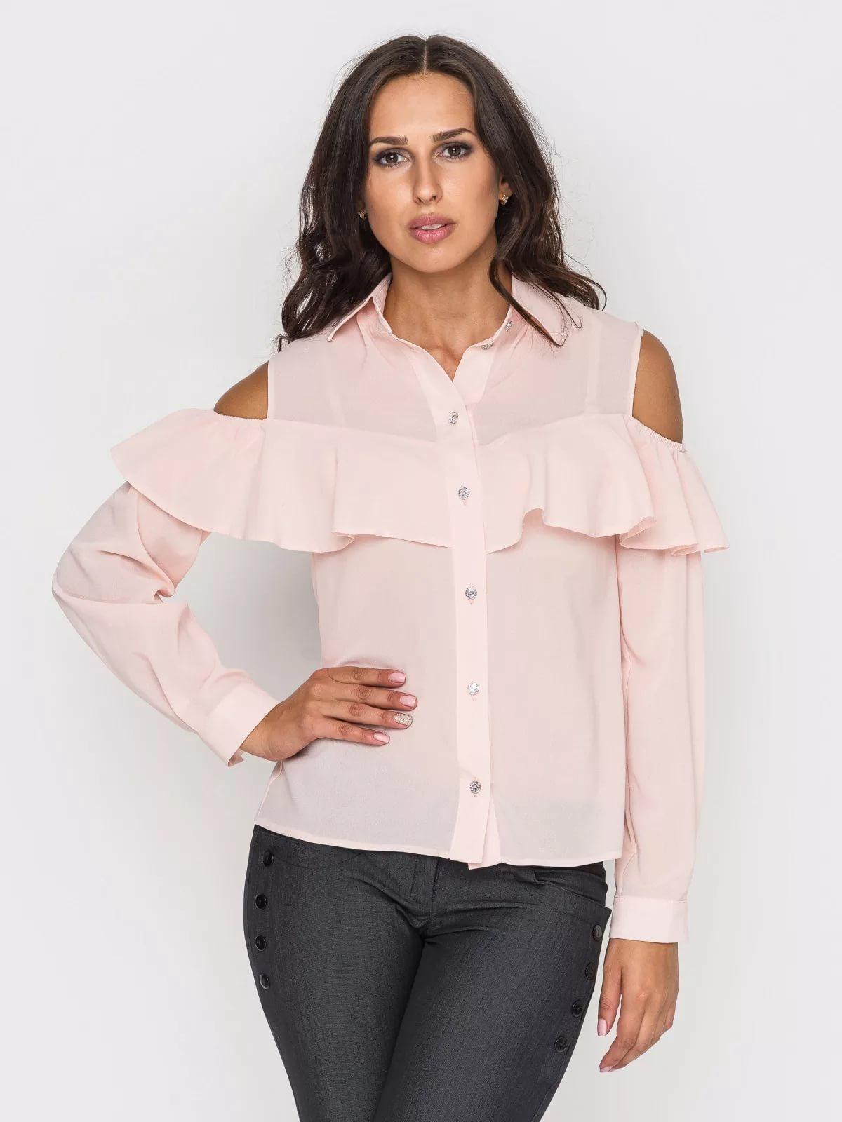 6416c990520 В копилку рукодельниц еще один мастер класс по пошиву блузки с воланом на  плечах.