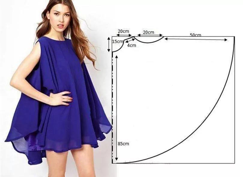 79ac2bac04aaa78 Следующий сарафан-платье можно сшить на основе выкройки платья. На фото  видна полная выкройка для платья. К сарафану потребуются следующие выкройки: