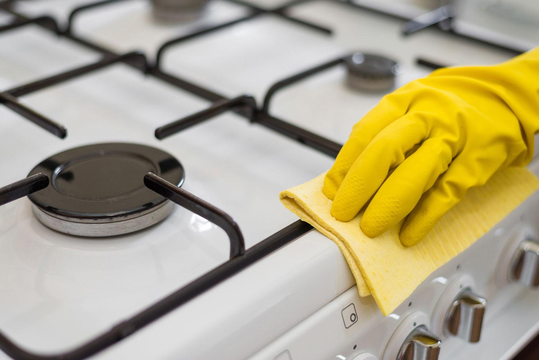 Как отмыть газовую плиту от нагара в домашних условиях