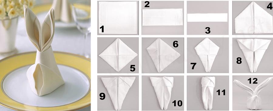 Как сделать салфетки на банкет