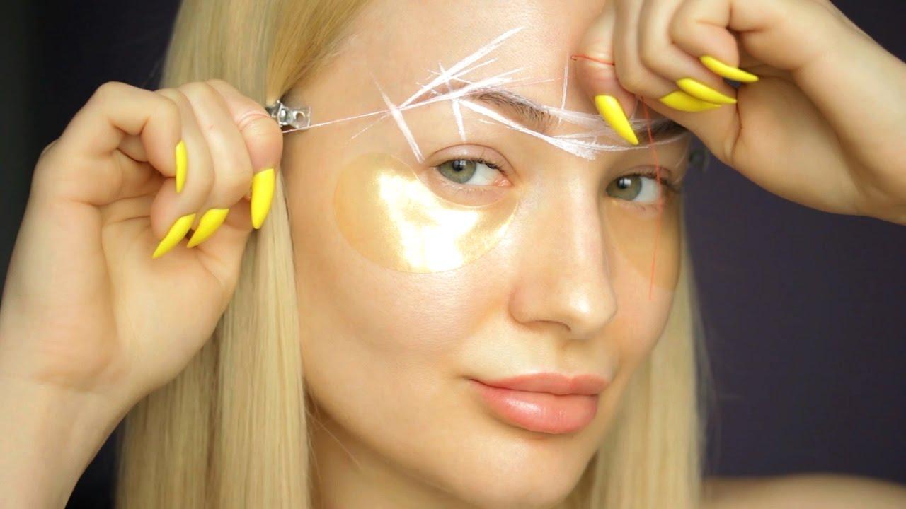 Изогнутые брови из прямых: как сделать форму арки, фото