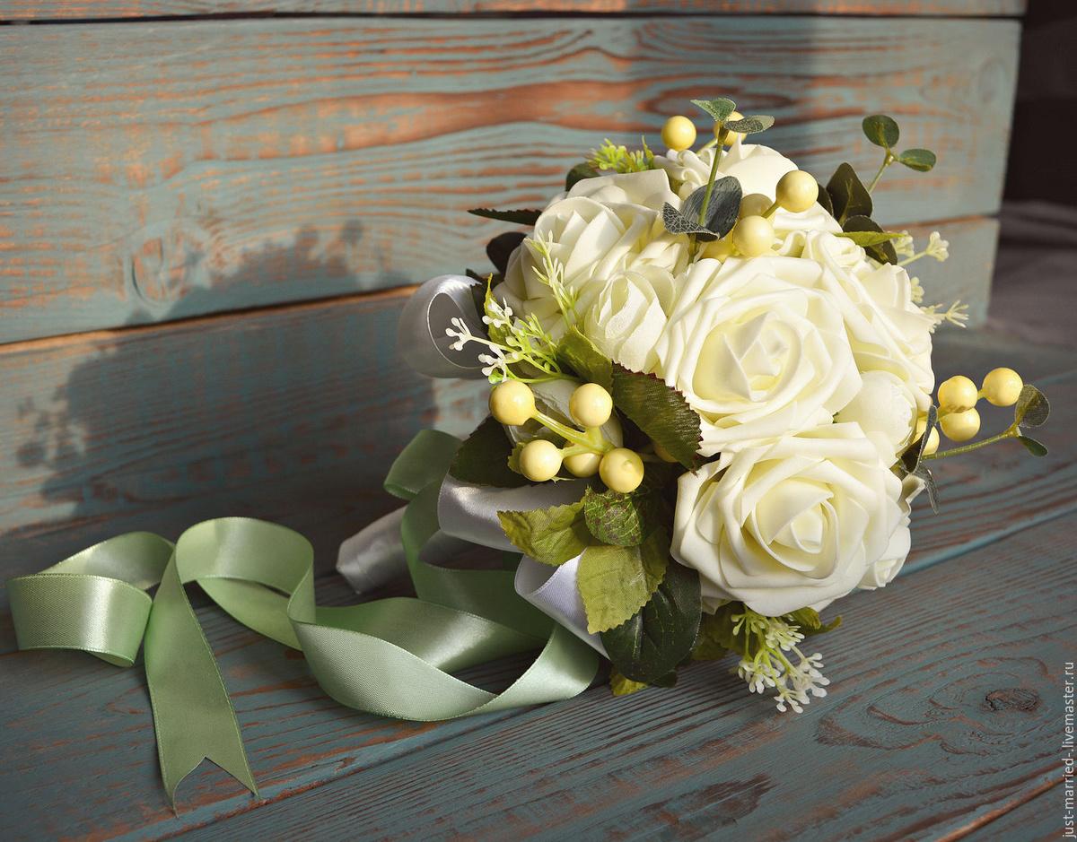 Искусственный свадебный букет своими руками, самаре рустикальном