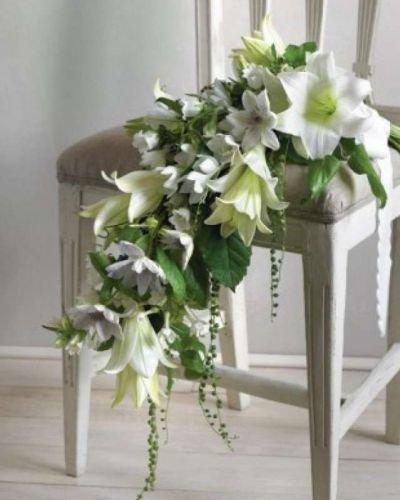 Свадебный букет с лилии каскадом фото, красивые букеты для любимой картинки