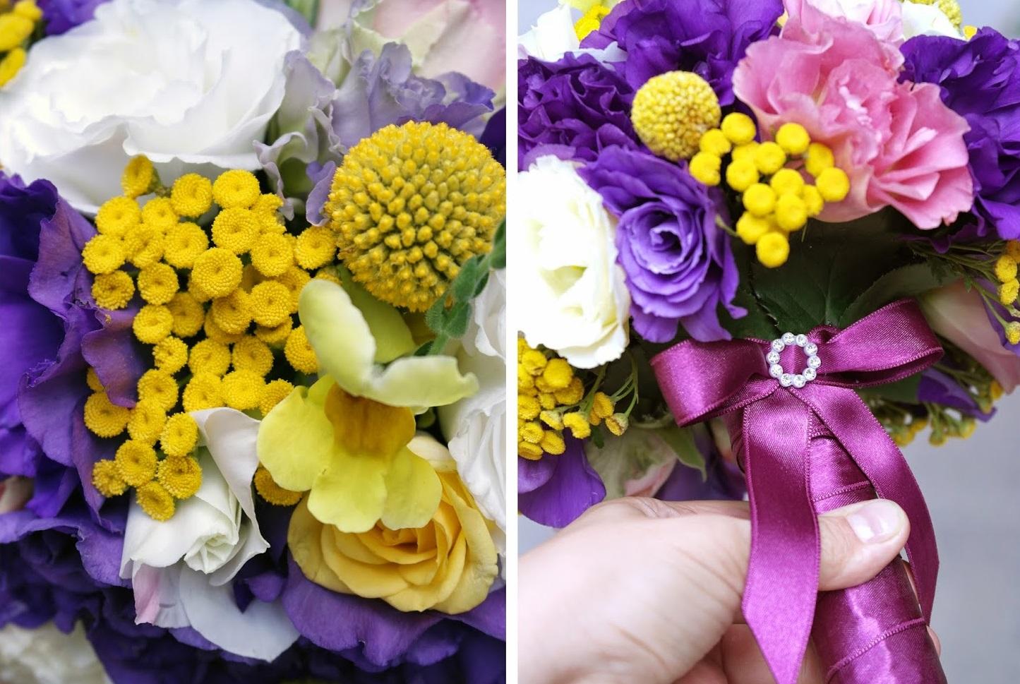 Свадебные светло фиолетовые букеты алматы