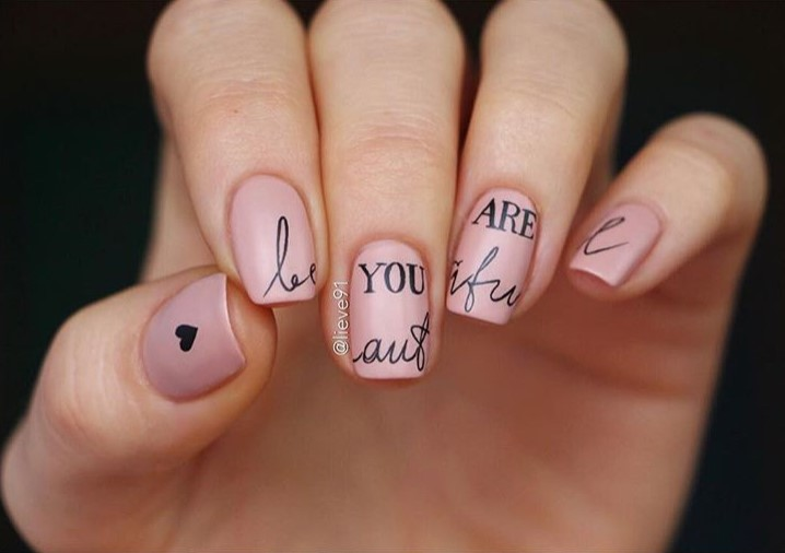 ногти с надписями на английском фото