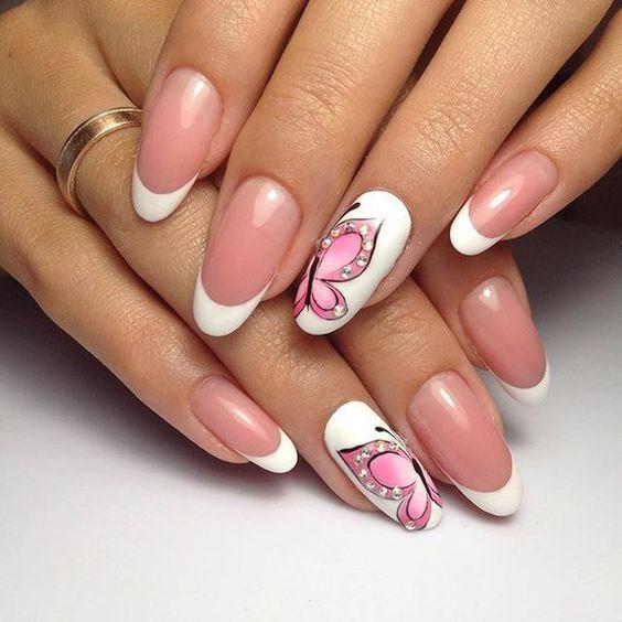 Ногти Малиновые С Рисунком