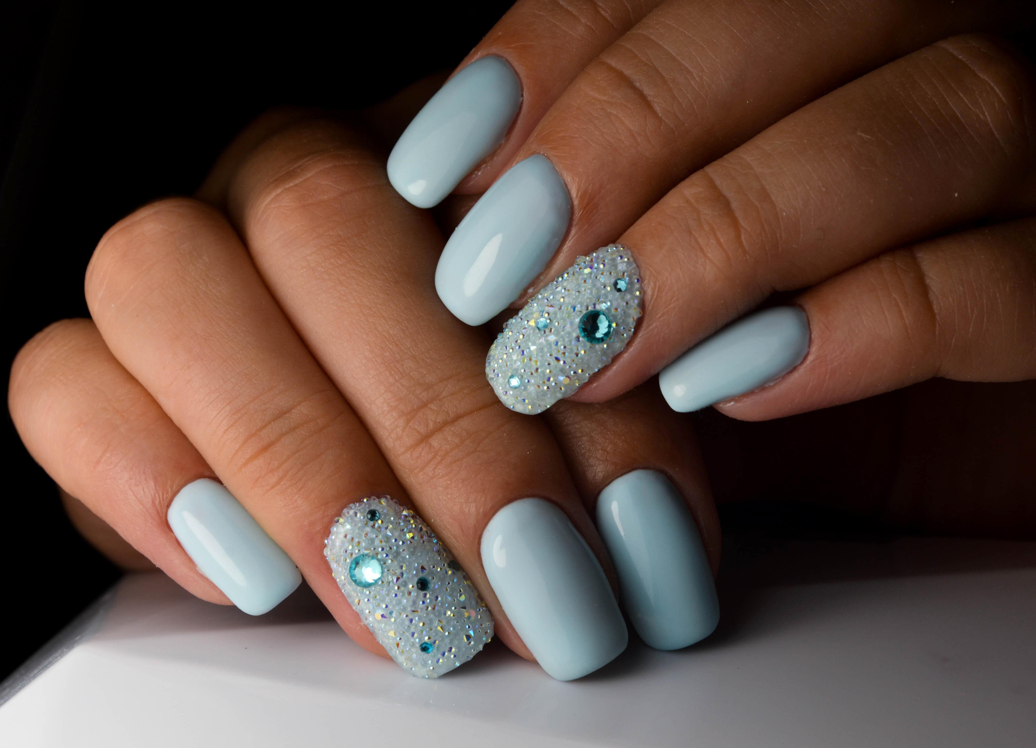 Хрустальные» ногти (24 фото): дизайн маникюра с «хрустальной ...