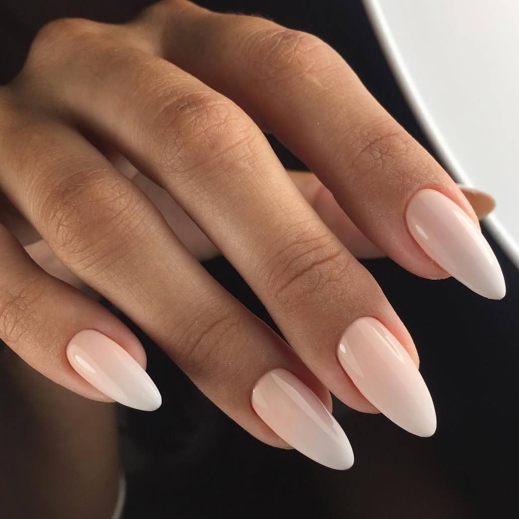 Как сделать миндалевидную форму ногтей в домашних фото 479