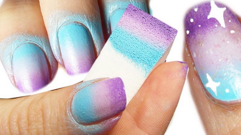 Градиент на ногтях гель-лаком: что такое градиент на ногтях, его виды