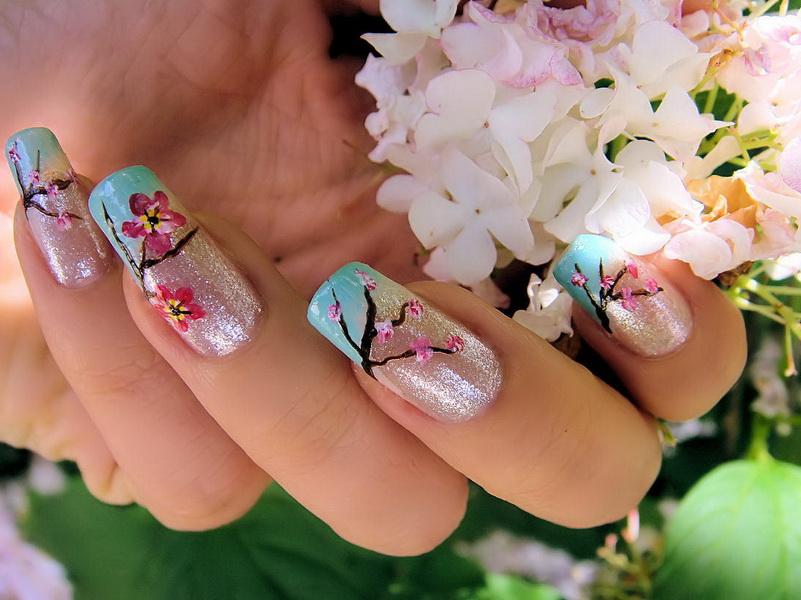 выглядели внутренний дизайн ногтей с цветами фото после школы парень