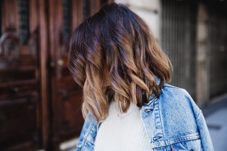 Коричневый балаяж на темные волосы