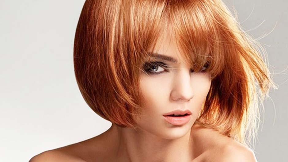Стрижка градуированный боб на средние волосы