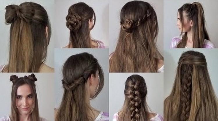 8bba538f15a Прически с распущенными волосами в школу (30 фото)  как сделать ...