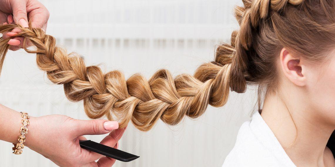 Коса колосок на бок