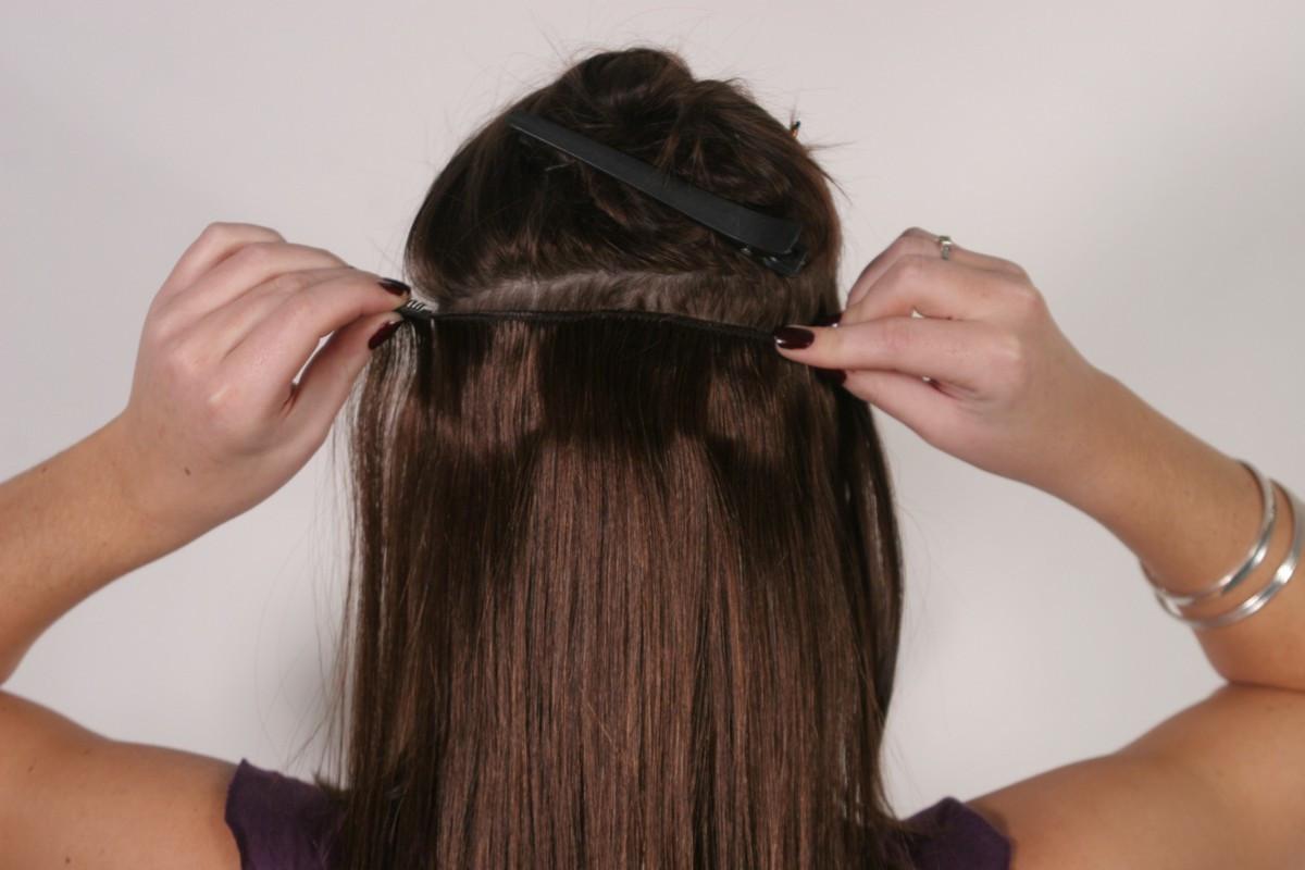 положение тела способы наращивания прядей волос фото карл это
