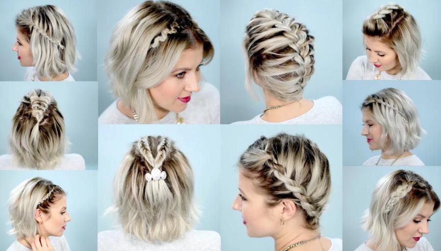 Как заплести очень короткие волосы