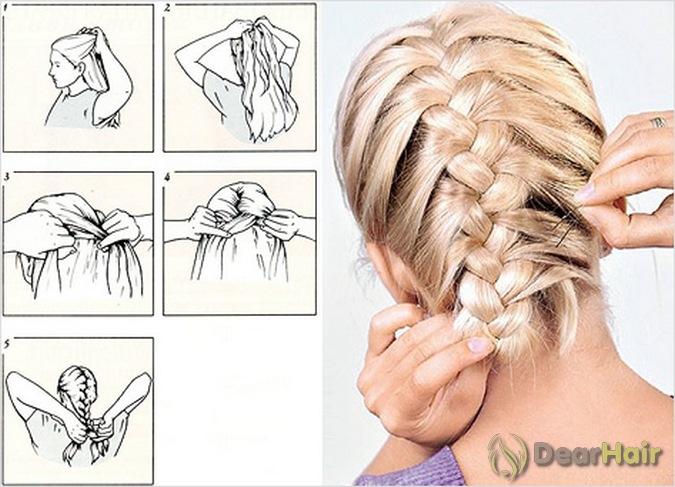 Как научиться делать прическу косичку на средние волосы самой