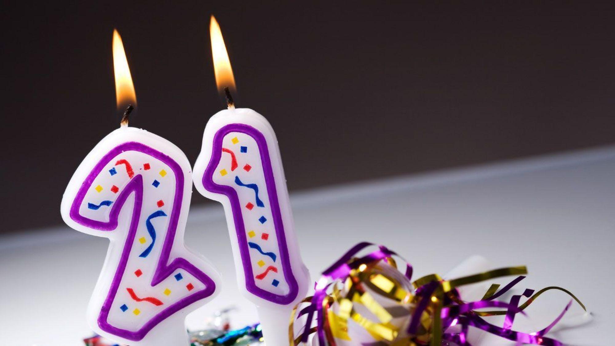 Картинки 21 год день рождения девушке красивые, днем