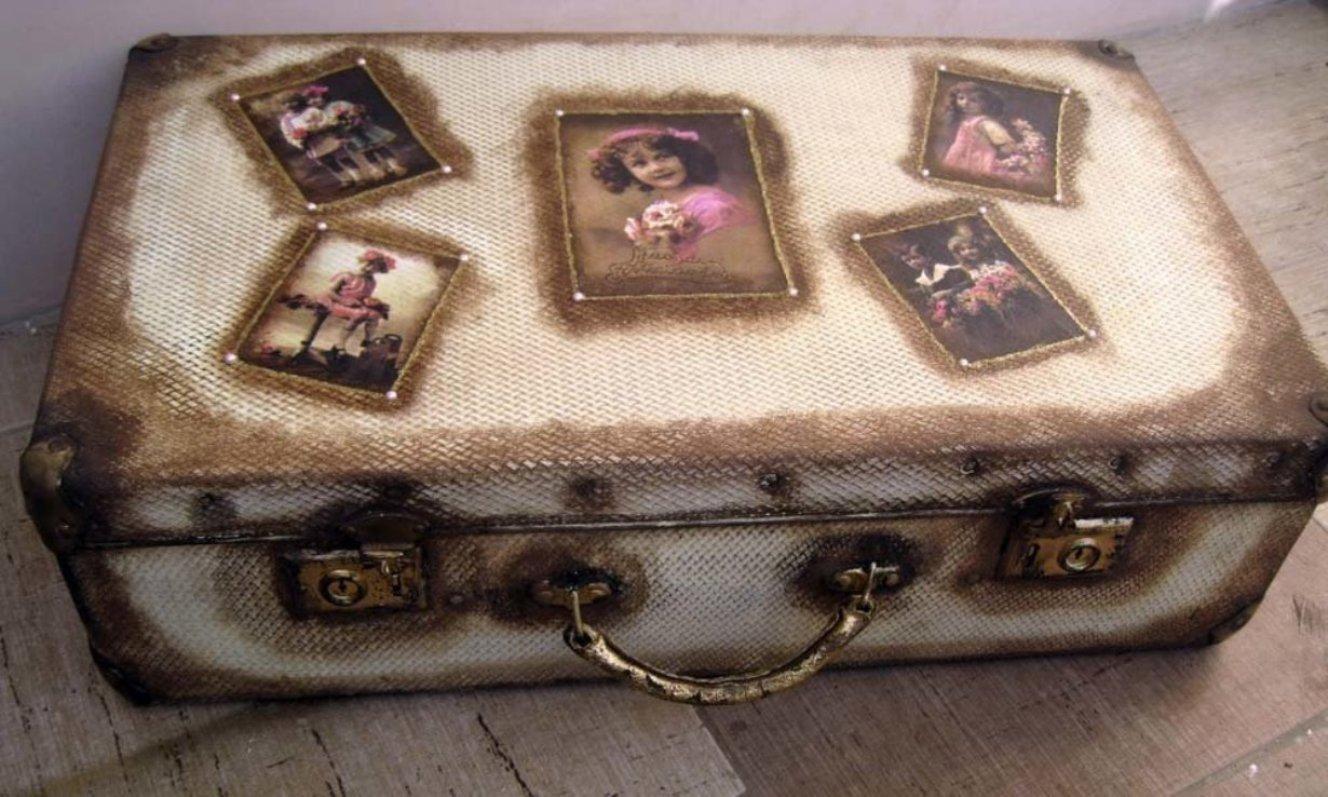 Превращаем старый чемодан в винтажный