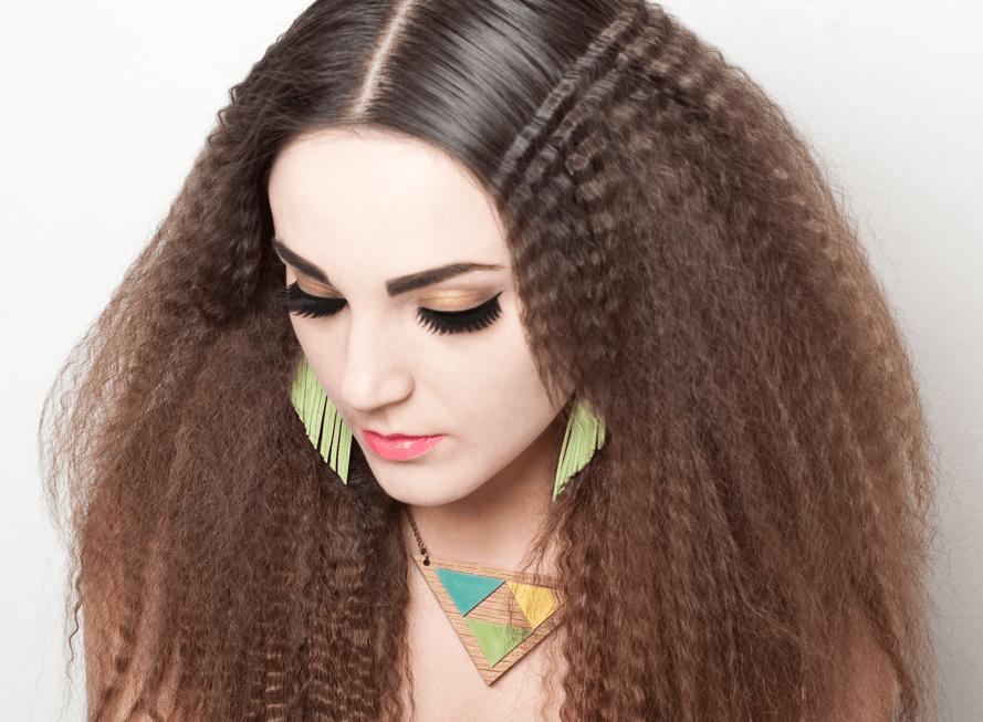 Гофре на волосах в домашних
