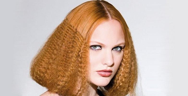 Как сделать крупное гофре на волосах