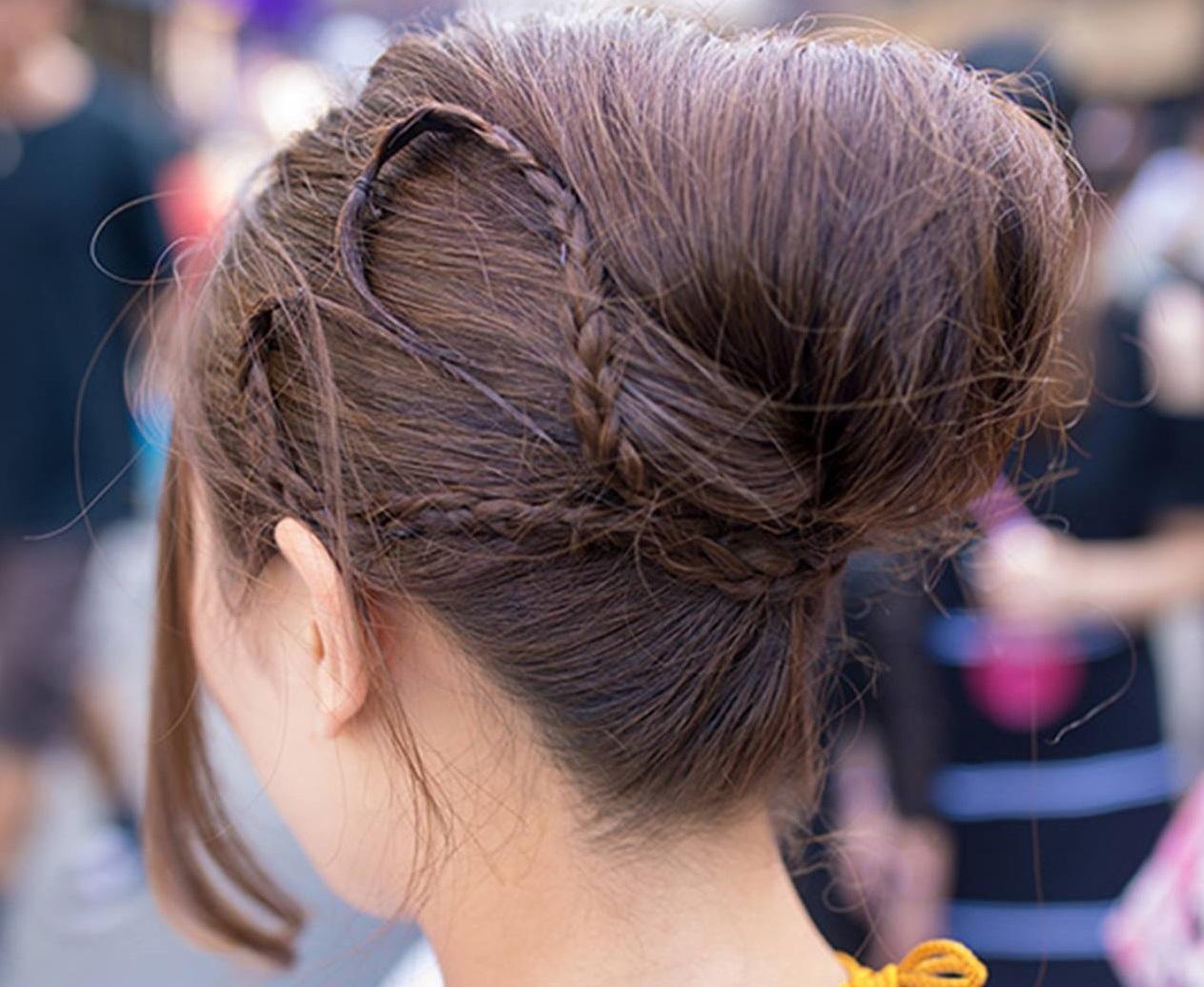 Ракушка на средние волосы своими руками