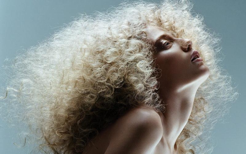 Покраска волос на пушистые волосы