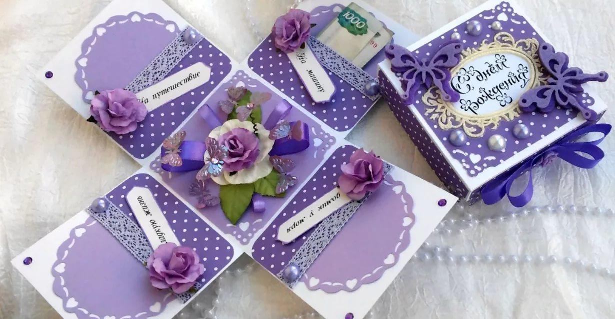 korobki-s-syurprizom-opisanie-sovety-po-izgotovleniyu-i-ukrasheniyu-36 Как сделать коробочку для подарка своими руками из картона. Пошагово Фото