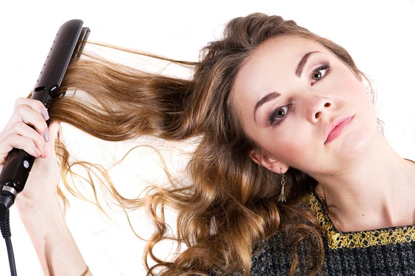 Как сделать кудри на концах волос