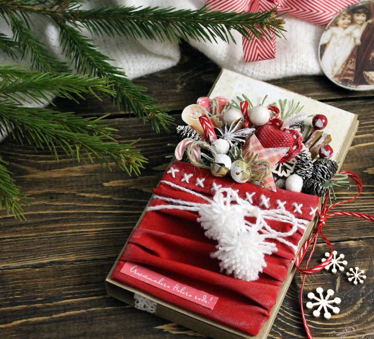 82efa6b2904476d ... в праздничной упаковке, коробка шоколадных конфет, красиво оформленная  коробка зефира или мармелада, печенье в жестяной нарядной банке с рисунком  ...